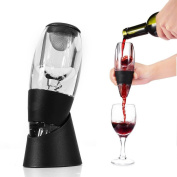 Denshine Aerator, Wine Aerator Wine Decanter Wine Decanter with Stand Wine Quick Aerator with Wine Filter Decanter Wine Pourers Wine Accessories - Black