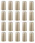 SILVER SHRINK CAPSULES 32 HEAT SHRINK CAPS FOR ALL STANDARD WINE BOTTLES 30X60 WITH PULL TAB