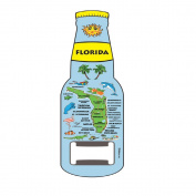 Magnet Beer Bottle Opener Florida Blue Map Design Magnet Bottle Opener
