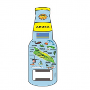 Magnet Beer Bottle Opener ARUBA Blue Map Design Magnet Bottle Opener