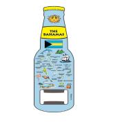 Magnet Beer Bottle Opener Official BAHAMAS Islands Blue Map Design Magnet Bottle Opener
