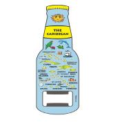 Magnet Beer Bottle Opener Official Caribbean Islands Blue Map Design Magnet Bottle Opener