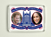 Prince Harry and Meghan Markle Royal Wedding Commemorative Fridge MagnetCannon Collectables