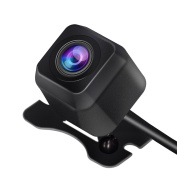 Car Reverse Camera, Eletecpro Universal High Quality Mini Car Dash Camera 420000 pixels High Viewing Angle 170 ° Waterproof Dustproof Wide Angle Lens Front and Rear View Camera Visible Even at Night