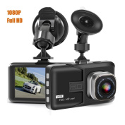 Camecho Dash Camera 7.6cm 1080P Full HD Black Box Video Recorder with Loop Recording, G-Sensor, Parking Mode, WDR and Motion Detection for Car / Camper / Truck
