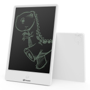 25cm LCD Writing Tablet, Fansteck Electronic Drawing Board for Kids, Durable Digital Graphic tablet with Screen Lock, Handwriting and Doodle Pad for Family Memo, Office - White