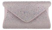 Girly HandBags Gemstones Design Clutch Bag