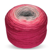 Rellana Regenbogen Bobbel Merino, Colour 208, Towel yarn for Crochet and Knit, 200 Grammes Wad approx. 700 LL M, great Colour gradient, incl. Knitting pattern for 1 Cloth