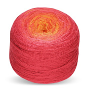 Rellana Regenbogen Bobbel Merino, Colour 224, Towel yarn for Crochet and Knit, 200 Grammes Wad approx. 700 LL M, great Colour gradient, incl. Knitting pattern for 1 Cloth