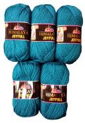 5 x 100 g Petrol Blue 80113 500 Gramme Wool Super Bulky Knit and Crochet
