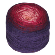 Rellana Regenbogen Bobbel Merino, Colour 203 Venezia, Towel yarn for Crochet and Knit, 200 Grammes Wad approx. 700 M LL, great Colour gradient, incl. Knitting pattern for 1 Cloth