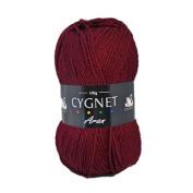 Cygnet C600/991 | Claret 100% Acrylic Aran Yarn/Knitting Wool | 100g