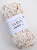 Rico Creative Cotton Print Aran Colour 26 – Rosewood Speckled Cotton Yarn for Knitting & Crochet