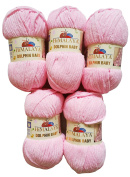 5 x 100g Super Soft and Super Bulky Himalaya Dolphin Baby 80319 Pale Pink, Wool Knit and Crochet