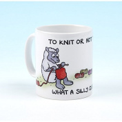 Vanessa Bee To Knit or Not to Knit Knitters Mug
