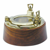 'Maritime CH Trading Wood and Brass Porthole ashtray ashtray Diameter