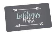 Infinite by Geda Labels (Infkh) Board Favourite Mann 5x14 cm Melamine Breakfast Board 23.5 x 14 x 0.5 cm, Grey/Blue