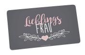 Infinite by Geda Labels (Infkh) Board Favourite Wife 5X14, 5 cm Melamine Breakfast Board 23.5 x 14 x 0.5 cm, Grey/Pink