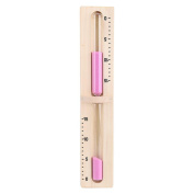 Wall Mount Rotating Sand Sauna Timer 15 Minutes Wooden Hourglass Countdown Pink Sand Timer