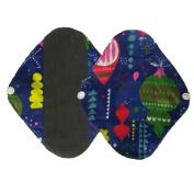 Menstrual Pad,Webla 2Pcs Reusable Bamboo Cloth Washable Menstrual Pad Breathable Mama Sanitary Towel Pads for Overnight