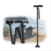 LPY-Aluminium four-legged folding multi-purpose led lamp elderly crutch trusty cane
