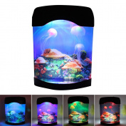 Interlink Jellyfish Aquarium Tank Electric Lamp Night Light With Colour Changing Light Effects Simulation Background for Living Room