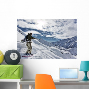 Snowboarding Wall Mural by Wallmonkeys Peel and Stick Graphic (90cm W x 60cm H) WM95118