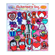 Valentines Day Gel Clings - Hearts, Love, Candy, Be Mine, Cupid & More - 23 Piece Window and Wall Thick and Strong Gel Clings are Reusable and Removable – Great for Home, Office, Travel