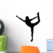 Cheer Silhouette Black Wall Decal by Wallmonkeys Peel and Stick Graphic (30cm H x 25cm W) WM121471