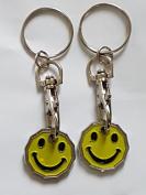 2 X FABULOUZ NEW SHAPE 12 Edge Sided Trolley Token £1 Coin Pound Shopping Key Ring Clasp Supermarket Locker Gift