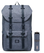 KAUKKO New Feature of 2 Side Pockets Outdoor Travel Hiking Backpack Laptop Schoolbag for Men and Women (grey-EPM-2