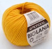 50 Grammes Lane Mondial Bio Wool, Col. 355 – gaillo Maize, Organic Wool, Knitting, Crochet