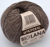 50 Grammes Lane World Organic Wool, Col. 342 Brown Organic Wool Knitted Crochet