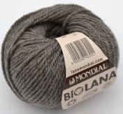 Biolana 344 Natural Wool 100 % Organic Wool for Knitting and Crocheting Grey-Brown