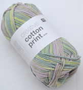 Rico Creative Cotton Print Aran Colour 17 Spring Cotton Yarn for Knitting & Crochet