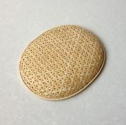 Handmade baskets Bamboo basket storage basket oval basket bread basket dedicated dumpling mat refrigerator fruit basket green / 35 * 27 * 4cm