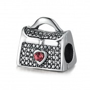 Yingyan Silver Charms Heart Lock European Bead For Pendant Necklace Bracelets Bangle Jewellery