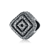 Yingyan Silver Charms Square European Bead For Pendant Necklace Bracelets Bangle Jewellery