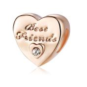 Yingyan Silver Charms Best Friend Hearts European Bead For Pendant Necklace Bracelets Bangle Jewellery