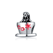 Yingyan Silver Charms Cup & Girl European Bead For Pendant Necklace Bracelets Bangle Jewellery
