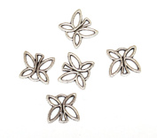 Set of 7 charms butterfly charms silver colour