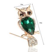 Youkara Alloy Diamond Animals Owl shape Brooch Pin Brooches For Women Girls Jewellery