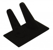 Black Velvet 2 Ring Finger Display Stand