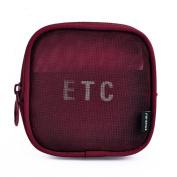 Sunshay Portable Mesh Cosmetic Bags Casual Make Up Bag Women Mesh Pouch