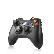 rottay Gamepad, Wired Game Controller PC (Supports Windows 7/8/8.1/10) PC Joystick for Xbox 360-nero