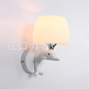 European style wall lamp iron alloy dual-head lamp bedroom bedside lamp in the living room, study room lights Home Lighting
