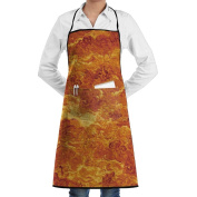 Unisex Kitchen Aprons Flame Surface Chef Apron Cooking Apron Barbecue Aprons