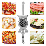 Meat Grinder, Justdolife Manual Meat Grinding Machine Household Sausage Filler Machine