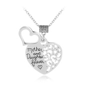 Fashion Mother Daughter Letter Necklace Hollow Heart Party Travel Jewellery Gifts