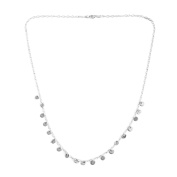 Sterling Silver Multi Disc Necklace Size 50cm , Silver wt 3.80 Gms.